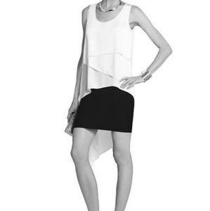 BLACK BCBG Karlie Asymmetrical Top